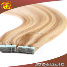 Piano 30 inch remy tape hair extensions,Double drawn colorful tape hair extensions 100% human hair