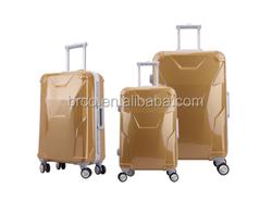 2016 new design fashion PC luggage set good trolley luggage
