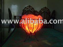 Salt Lamps, Metal Cage, Metal Basket, Tealights, Natural Lamps, Crafted Lamps, Animal Salt, Granulate, Running Salt