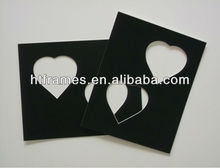black heart multi opening photo mat