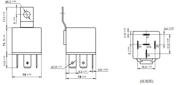 zt603 12v 24v 4pin 5pin 30a 40a 60a 80a auto relay jd1912