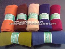 double velour fleece blanket