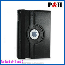 igh quality 360 degree rotating pu leather case for iPad 5/iPad air