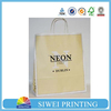 2015 Cheap White kraft paper bag, paper kraft bags with printing