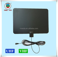 Flat soft material indoor HDTV antenna