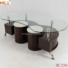 Brand New Modern Oblong Glass Coffee Table 130x70cm