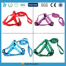 New printed cute soft nylon Puppy dog harness pet dog harness