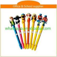 Hot sale new design cheap polymer clay ball pen high class black metal roller fat pen