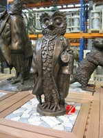 funny bronze owl sculpture for office decor