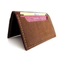 9307 brown leather business cardholder for men