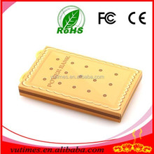 Promotion gifts OEM fashion biscuits modelling power bank