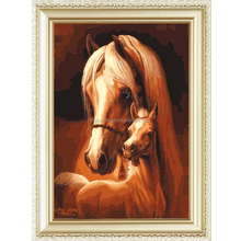 Hot sale horse design menglei oil painting by numbers kits