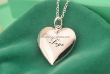 latest customize design fashion silver 925 heart locket pendant for women men wholesale price