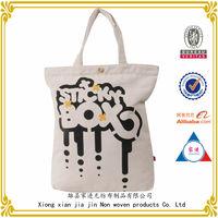 custom printing shopping canvas tote bag / customized canvas tote bag