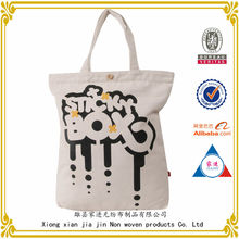 custom printing shopping canvas tote bag / customized canvas tote bag