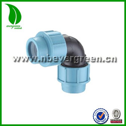 PP pvc pipe fitting 90 degree elbow