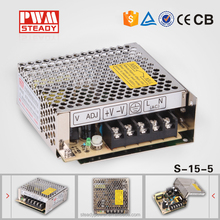 wholesalers alibaba S-15-5 15W led switch power supply 5v 3a for led light bulbs