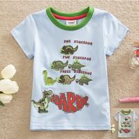2-6Y (S87110#)Dinosaur tops children animal tees summer kids jersey t shirt
