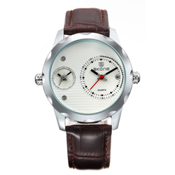 Quartz watches made in japan SKONE 9245 mens time zone quartz watch