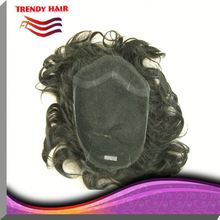 Invisible Knots Thin Skin Loose Curl Toupee For Women