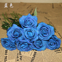 single stem real touch PU rose artificial flower/ rose balls