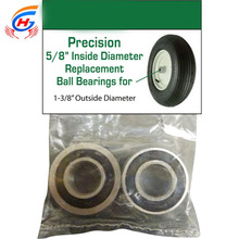 "deep groove ball bearings- Pair, 5/8in.for wheelbarrow, hand truck, cart High Precision 5/8""Wheel Bearings"