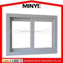 low cost UPVC frame sliding building windows/simple glass home design window