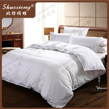 cheap queen king size white cotton bedding sets western hotel twin