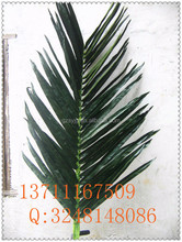 factory price artificial coconut tree leaf / fake coconut leaves garden decoration