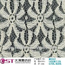 daisy pattern lace fabric in curtain design