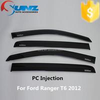 for Ranger t6 2012 door visor PC Injection 3M Tape weather visor rain shield window visor deflector auto parts