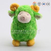 Stuffed fur animal toys goat figurnies made in China merchandise