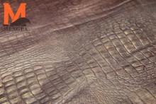 pattern embossed leather sheep skin embossed genuine leather crocodile pattern