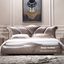 Studded leather furniture king size leather bed