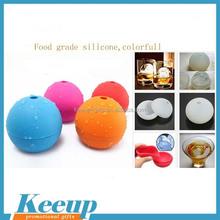 Wholesale personal round ball shape Silicone Ice cube tray with lid