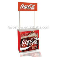 lightweight plastic portable display counter for products