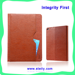 """""""steily"""" high-grade exquisite workmanship multi-function pocket stand leather case for iPad mini 4, can be customized"""