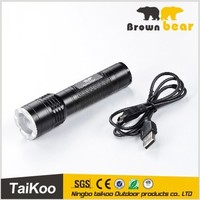 HOT SALE xpe led flashlight rechargeable flashlight with USB wire most powerful flashlight