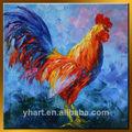 venta al por mayor colorido moderno pintura al óleo de gallo gallo o animal cuchillo de la pintura