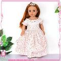nuevo estilo pulgadas 18 ropa de la muñeca de las niñas a juego muñecas bebé precioso de la muñeca