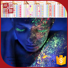 glow in the dark body luminous flash tattoo sticker supply luminous glow in the dark temporary tattoo
