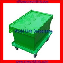 50kgs Attach Lids Plastic Stackable Solid Containers