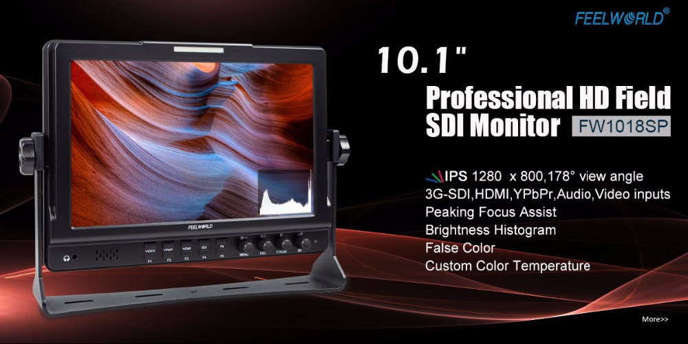 10.1 inch IPS panel Broadcast monitor with brightness exposure false color.jpg