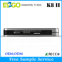 Wholesale K8II yahoo mail tv box Atom Z3735F 2g 32g kodi 14.0 Windows Smart TV Box