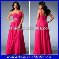ED-1464 Elegant one shoulder sweetheart neckline flowing chiffon cheap plus size evening dresses for fat women