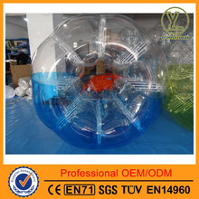 2015 top quality inflatable body bumper ball for adult