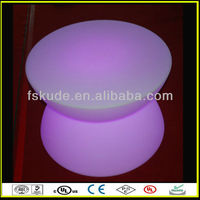 Lighted bar furniture, gllowing plastic bar, fashion design glowing plastic led long bar tables