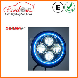 Qeedon hot sale with osam chips and halo ring headlight custom for harley davidson choppers