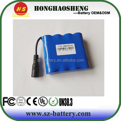 hot sale 2s2p lithium ion battery 18650 7.4v 4400mah li-ion battery pack rechargeable