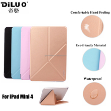 Ultra Thin PU Leather Tablet Case for Apple iPad Mini 4,for iPad Mini 4 cover case High Quality
